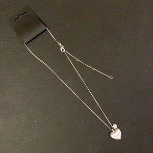 Pilgrim Silver double heart necklace